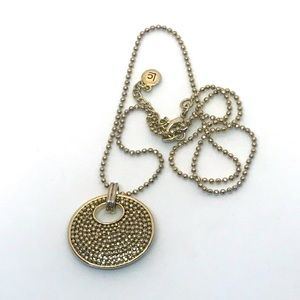 LC Gold Tone Necklace